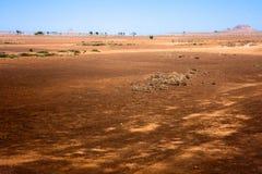 Przylądka Verde pustyni miraż obraz royalty free