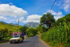 Przylądka Verde Wspólny transport, Santiago wyspa, Podróżuje Tropikalnego Afryka Zdjęcie Stock