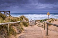 Przylądka Woolamai plaża przy Phillip wyspą Fotografia Stock