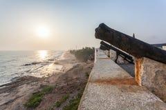 Przylądka wybrzeża kasztel, Ghana, afryka zachodnia Zdjęcia Stock