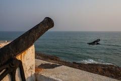 Przylądka wybrzeża kasztel, Ghana, afryka zachodnia Zdjęcie Royalty Free