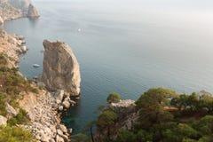 Przylądek Aya w Crimea Zdjęcia Stock