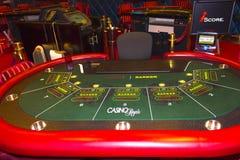 Przylądek Canaveral, usa - Maj 05, 2018: Automat do gier w kasynie na statku wycieczkowym w morzu karaibskim Fotografia Stock