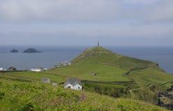 Przylądek Cornwall z Kominowym Górniczym pomnikiem Obraz Royalty Free