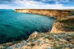Przylądek Lucullus Republika Crimea fotografia royalty free