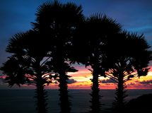 przylądek Phuket promthep sunset Thailand Obrazy Stock