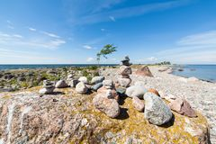 Przylądek Purekkari w Estonia fotografia stock