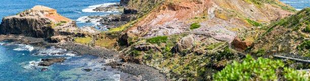 Przylądek Schanck i ambona Rockowy panoramiczny widok Wiktoria, Australi, - Fotografia Royalty Free
