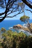 Przylądek Schanck pod niebieskim niebem, VIC, Australia Obrazy Royalty Free
