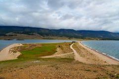 Przylądek Uyuga Maloe Bardziej na Jeziornym Baikal Rosja Obrazy Royalty Free
