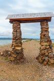 Przylądek Uyuga Maloe Bardziej na Jeziornym Baikal Rosja Obraz Royalty Free