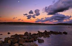 Przylądka Agulhas laguny zmierzch Obrazy Royalty Free