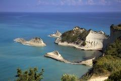 przylądka Corfu drastris Fotografia Royalty Free