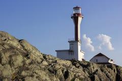 Przylądka Forchu latarnia morska w nowa Scotia w Kanada Zdjęcia Stock