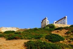 przylądka Greece sounion Zdjęcie Royalty Free