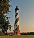 Przylądka Hatteras latarni morskiej zmierzch Fotografia Stock