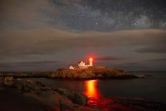 Przylądka Neddick latarnia morska Zdjęcia Royalty Free