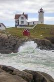 Przylądka Neddick ` Nubble ` latarnia morska, Jork, Maine Zdjęcie Royalty Free
