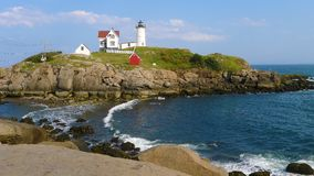 Przylądka Neddick ` Nubble ` latarnia morska, Jork, Maine Obraz Stock