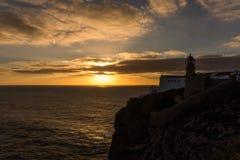 Przylądka St Vincent latarnia morska Cabo De Sao Vincente Obraz Royalty Free