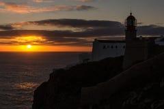 Przylądka St Vincent latarnia morska Cabo De Sao Vincente Zdjęcia Royalty Free