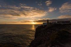 Przylądka St Vincent latarnia morska Cabo De Sao Vincente Fotografia Stock