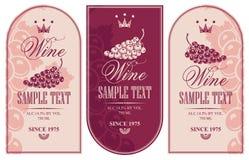 przylepiać etykietkę więcej mój portfolio wektorów wino ilustracja wektor