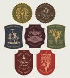przylepiać etykietkę więcej mój portfolio wektorów wino Obrazy Royalty Free