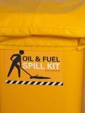 Przylepiający etykietkę jaskrawy żółty przemysłowy przeciwawaryjny upadku zestaw Zdjęcia Royalty Free