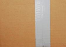 przymknięcie kartonowa taśma Zdjęcie Stock