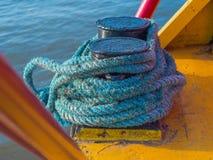 przymocowywający linowy statek Fotografia Royalty Free