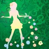 przynosi dziewczyny wiosna Zdjęcie Royalty Free