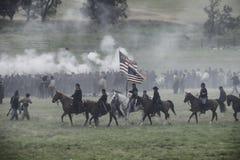 Przynoszący flaga naprzód Obraz Stock
