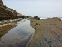 Przypływu basen kołysa erozję Zdjęcie Royalty Free