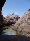 Przypływu basenu ślad, Saba Obrazy Royalty Free
