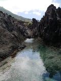 Przypływu basenu ślad, Saba Zdjęcia Stock
