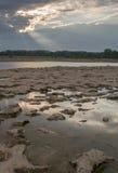 Przypływów baseny i bóg promienie Fotografia Royalty Free