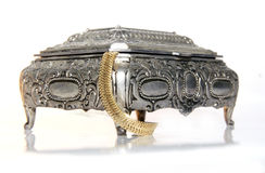 przypadki biżuterii srebra Fotografia Royalty Free