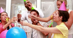 Przypadkowa biznes drużyny odświętność z szampanem zbiory