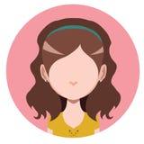 Przypadkowa długa z włosami dziewczyna Obraz Royalty Free