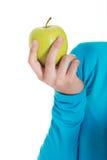 Przypadkowa kobieta trzyma jabłka. Fotografia Royalty Free