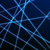 Przypadkowa Laserowa siatka Ochrony błękita promienie Wektorowa ilustracja odizolowywająca na ciemnym tle Zdjęcia Royalty Free