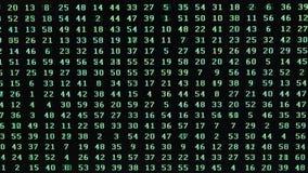 Przypadkowa sekwencja liczby na ekranie komputerowym podczas próby odzyskiwać hasło zdjęcie wideo