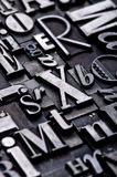przypadkowe alfabet Obrazy Stock