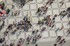 Przypadkowe deseniowe tłum sceny zdjęcia stock