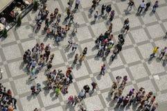 Przypadkowe deseniowe tłum sceny Obrazy Stock