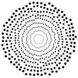 Przypadkowi okręgi, kropka abstrakcjonistyczny element, kółkowy kształt Obraz Royalty Free