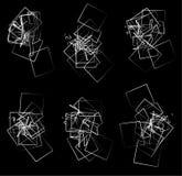 Przypadkowi, rozrzuceni graniaści elementy, kształtują ilustracja wektor