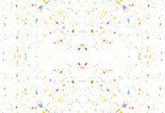 Przypadkowo rozrzuceni kolorowi pluśnięcia na białym tle wektor Zdjęcia Stock