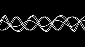 Przypadkowo ruszać się białe linie na czarnym tle ilustracji